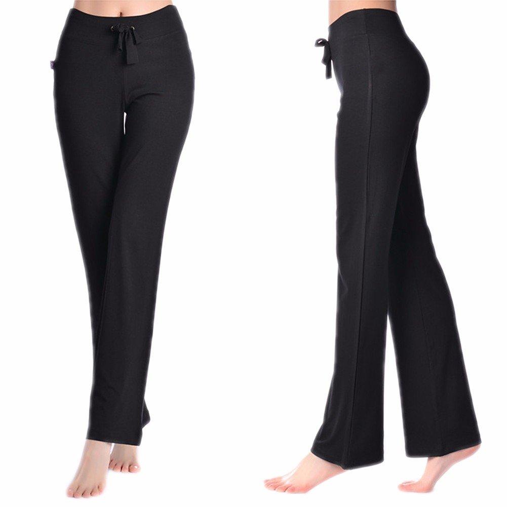 CFR Women's Harem Yoga Pants High Waist Soft Modal Lycra Fitness Leggings For Sports Dancing Black,M UPS Post by CFR (Image #1)