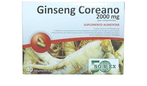 Ginseng Coreano 40 Comprimidos: Amazon.es: Salud y cuidado ...