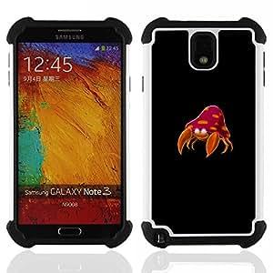 """SAMSUNG Galaxy Note 3 III / N9000 / N9005 - 3 en 1 impreso colorido de Altas Prestaciones PC Funda chaqueta Negro cubierta gel silicona suave (Vida no es nada W / Love Guión O"""")"""