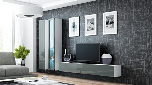 Seattle 3G Wall Unit / Entertainment Center / Hanging Furniture / TV  Console for Living Room / High Capacity Living Room Furniture / up to 65