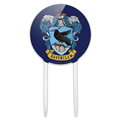 GRAPHICS & MORE Acrylic Harry Potter Ravenclaw Painted Crest Cake Topper Party Decoration for Wedding Anniversary Birthday Graduation: Kitchen & Dining