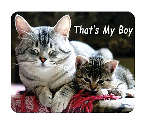That's My Boy/Mummy's Boy Cat - Mouse Mat Mouse Pad - 9.9x11.9 inches/25x30cm