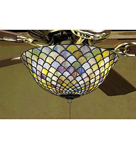 Fishscale Fan Light Fixture