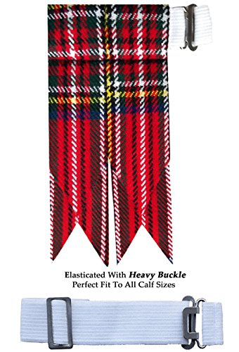 Royal Stewart Flash Scottish Kilt Hose/Sock Flashes