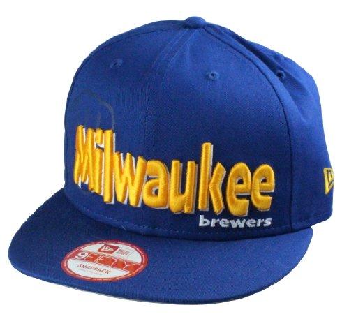 A NEW ERA Milwaukee Brewers MLB–Gorra Dough Word, tamaño: S/M