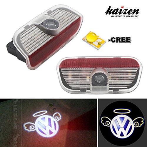 Kaizen 2 Pcs OEM Fit Super Bright LED Laser Ghost Shadow CREE Door Step Courtesy Welcome Light Lamps For VW Golf GTi EOS CC Polo Jetta Passat CAN-bus No Error Type Angel - Just Chillin Insert