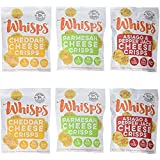 Whisps Cheese Crisps 6 Pack Assortment | Keto Snack, No Gluten, No Sugar, Low Carb, High Protein | Parmesan, Cheddar and Asiago & Pepper Jack