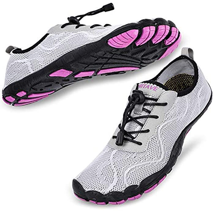 hiitave Womens Water Shoes Quick Dry Barefoot for Swim Diving Surf Aqua Sports Pool Beach Walking Yoga