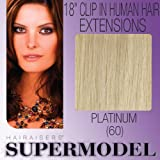 Supermodel Clip In Human Hair Extensions 18 -inch Colour 60 Lightest Blonde