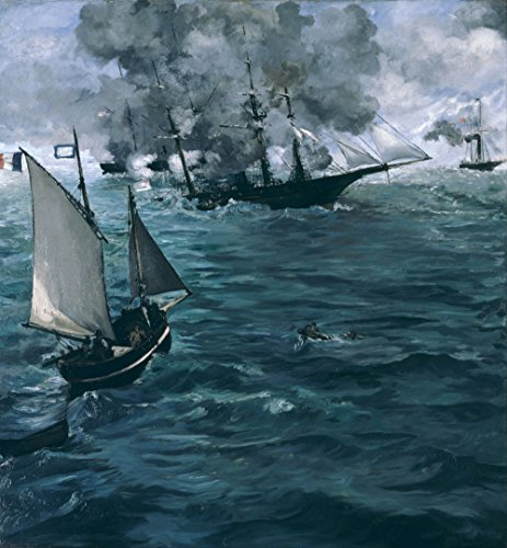 The Museum Outlet - Manet - The Battle of the Kearsarge and the Alabama - A3 - Shopping In Alabama Outlets