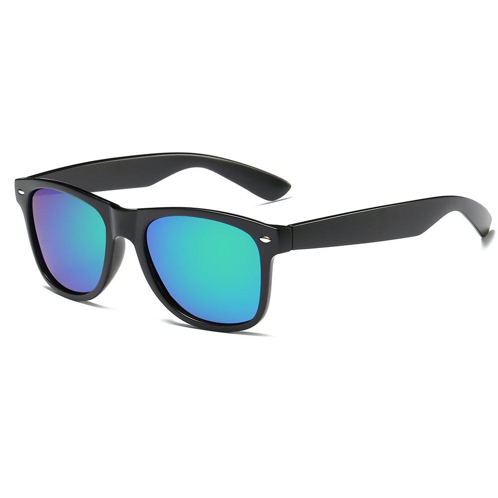 Morpho Diana Polarized Clubmaster Classic Half Frame Semi-Rimless Rimmed Sunglasses (green B, 2.04)