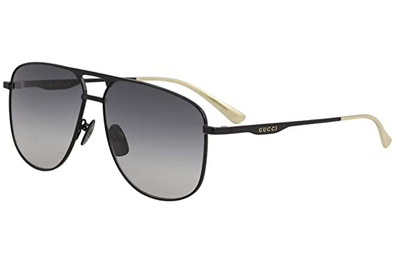 a3714d0102387 Amazon.com  Gucci GG0336S Sunglasses 002 Black Black   Grey Gradient ...