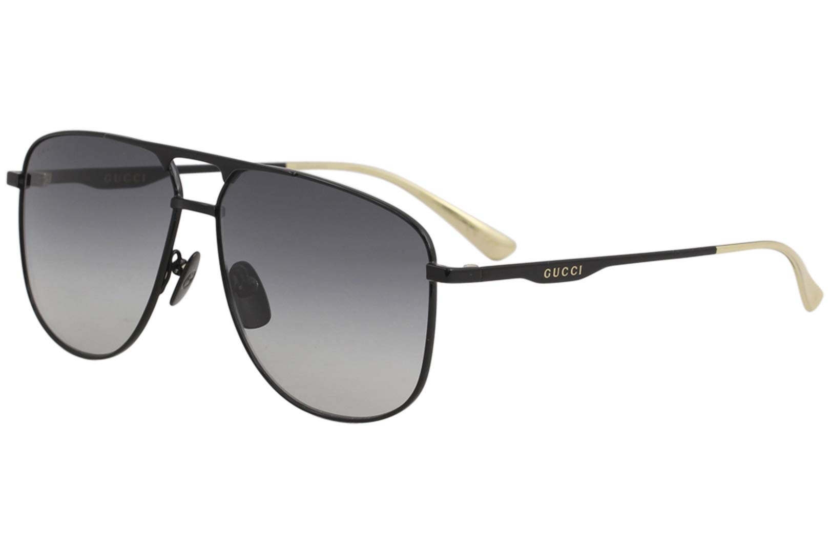 408f7595881 Gucci GG0336S Sunglasses 002 Black Black   Grey Gradient Lens 60 mm