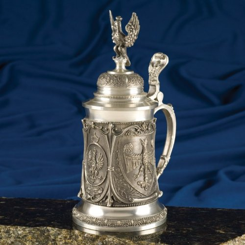 Pewter Stein - White Eagle 9 inches by Polish Steins