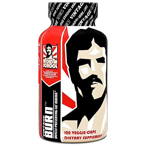 VINTAGE BURN Fat Burner - The First Muscle-Preserving Fat Burner Thermogenic Weight Loss Supplement – Keto Friendly - For Men and Women - 120 Natural Veggie Pills by Old School Labs