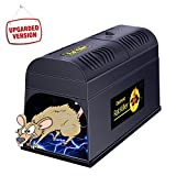 Ovinm Electronic Rat Trap Powerful High Voltage Automatic Rat Zapper, Animal Trap to Get Rid of Rats and Mice, Squirrels and Rodents,Indoor/Outdoor Rat Catcher, Efficient, Safe and Clean