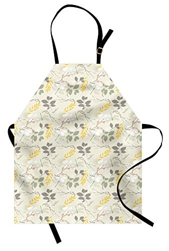 A Bug's Life Costume Ideas (Grey and Yellow Apron by Ambesonne, Vintage Farm Life Modern Inspired Florals Bugs Image, Unisex Kitchen Bib Apron with Adjustable Neck for Cooking Baking Gardening, Charcoal Grey Pink and Marigold)
