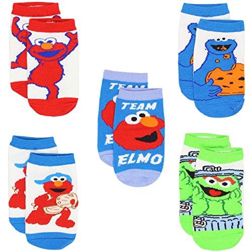 Sesame Street Boys Multi pack Socks (6-8 (Shoe: 10.5-4), Team Elmo 5 (Sesame Street Toddler Shoes)