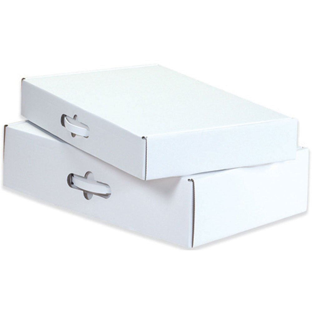 Bundle of 10 Aviditi MCC2 Corrugated Carrying Case Oyster White 18-1//4 Length x 11-3//8 Width x 2-11//16 Height