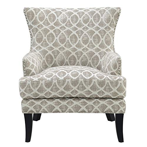 Miraculous Amazon Com Pemberly Row Bruno Dusty Sand Accent Chair With Machost Co Dining Chair Design Ideas Machostcouk
