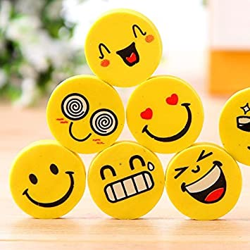 Nsquareshop Smiley Erasers For Birthday Return Gifts Pack Of 24