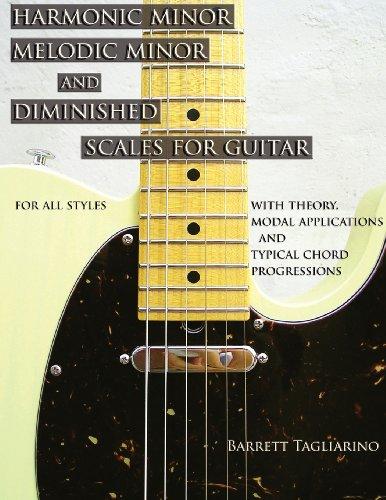 Harmonic Minor, Melodic Minor, and Diminished Scales for Guitar [Barrett Tagliarino] (Tapa Blanda)