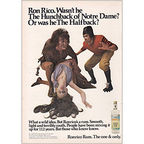 (1969 Ronrico Rum: Hunchback of Notre Dame, Ronrico Rums Print Ad)