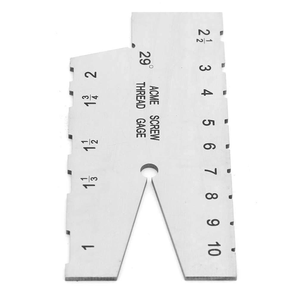 Edelstahl-ACME-Schraubengewinde-Messlehre 29-Grad-Pitch-Schleiflehre f/ür Einstellwerkzeuge