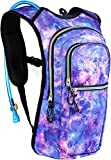 Cheap Sojourner Rave Hydration Pack Backpack – 2L Water Bladder Included for Festivals, Raves, Hiking, Biking, Climbing, Running and More (Multiple Styles) (Galaxy)