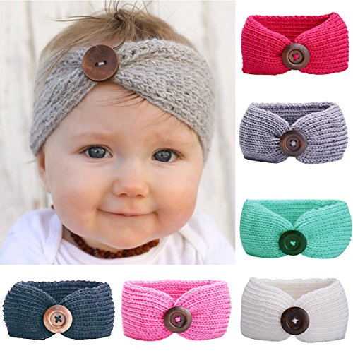 Baby Headbands Turban Knotted, Girls Hairbands for Newborn,Toddler and Childrens