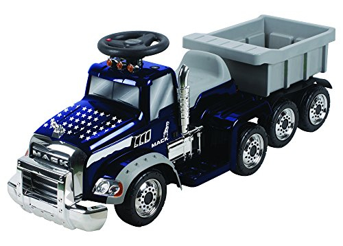 Navy Blue Truck (Beyond Infinity Ride on Mack Truck Battery Operated Ons, Navy Blue, Model #12744)