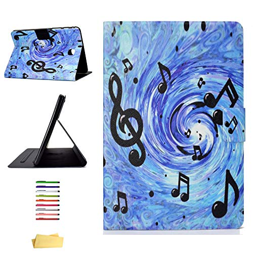 (Galaxy Tab A 8.0 2015 Tablet Case (SM-T350/P350),Magnetic Smart Stand Synthetic Leather Shockproof TPU Cover with Auto Wake/Sleep Card Holder for Samsung Galaxy Tab A 8.0 2015 (T355/P355), Sheet Music)