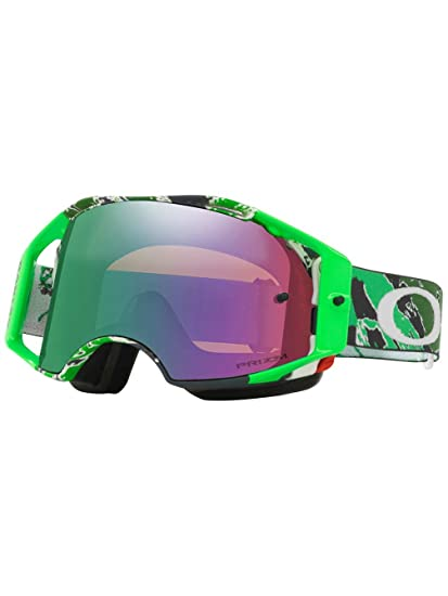 e248304a5acf Oakley Airbrake MX Eli Tomac Adult Off-Road Motorcycle Goggles Eyewear -  Neon Green Camo Prizm MX Jade   One Size Fits All  Amazon.ca  Automotive