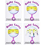 "Baby Shower Lottery Raffle Lotto Game Cards for Party Activities, Lucky Prize Favors, Decoration, Ideas 4.25"" x 5.5"" inch (24 Pack) by Super Z Outlet®"