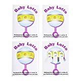 "Baby Shower Lottery Raffle Lotto Game Cards for Party Activities, Lucky Prize Favors, Decoration, Ideas 4.25"" x 5.5"" inch (24 Pack)"