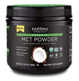Nutiva USDA Certified Organic MCT Powder with Prebiotic Acacia Fiber, Caprylic and Capric Acids from non-GMO, USDA Certified Organic Fresh Coconuts, 10.6-ounce Review