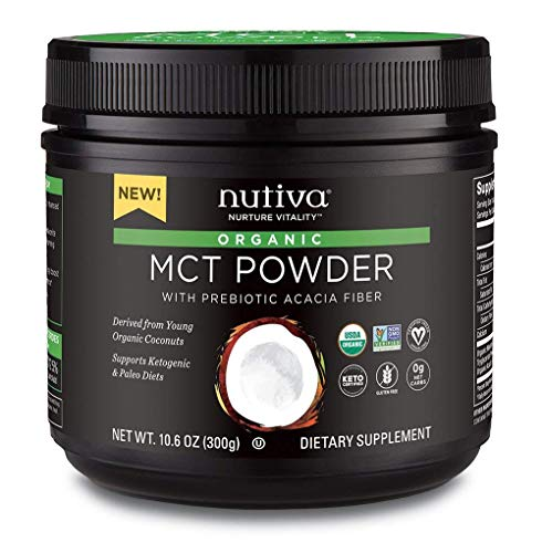 Nutiva Organic MCT Powder, Coconut, 10.6-ounce (Egg White Powder Vs Egg White Liquid)