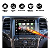 #8: 2014-2018 Jeep Grand Cherokee Uconnect Touch Screen Car Display Navigation Screen Protector, RUIYA HD Clear Tempered Glass Car in-Dash Screen Protective Film (8.4-Inch)