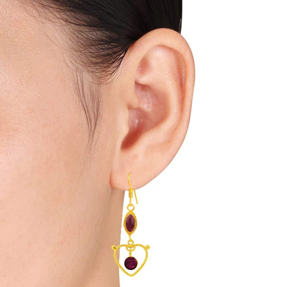 Earrings For Sensitive Ears Dangle Earrings Nickel Free Earrings Hypoallergenic Earrings Red Earrings 7.4 Ctw Ruby Zoisite Earrings By Orchid Jewelry Wedding Earrings Ruby Zoisite Jewelry