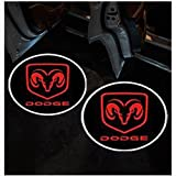 ZhengRong Car Door LED Lighting Entry Laser Ghost Shadow Projector Welcome Lamp for Dodge (2 Piece)