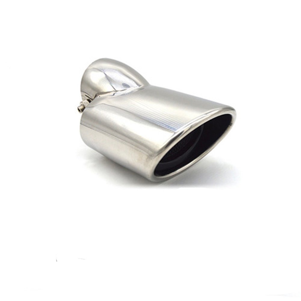 Car Exhaust Tail Muffler Pipe Universal Stainless Steel Chrome Tip Pipes Fit Diameter 1 1/2 inch to 2 1/4 inch (silver) Atreus