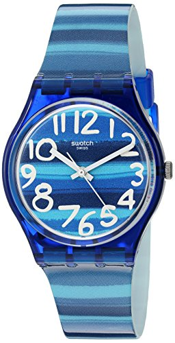 Swatch Unisex GN237 Blue Plastic Watch by Swatch