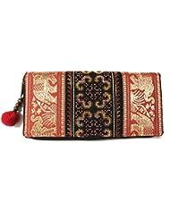Wallet by WP Embroidery Elephant Zipper Wallet Purse Clutch Bag Handbag Iphone Case Handmade for Women