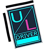 Veezy Illuminated Uber Lyft Sign with Velcro Strip Easy Removable Glowing Blue Pink Decal 34 feet Trade-Dress for Rideshare Driver with Extension Cord