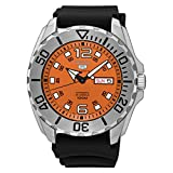 Seiko 5 Sports Automatic Mens Watch, Baby Monster, Orange Dial, Made in Japan - SRPB39J1