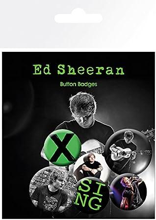 GB eye LTD, Ed Sheeran, Singer, Pack de Chapas: Amazon.es: Hogar