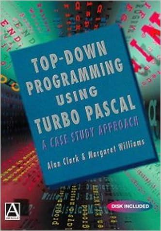 Amazon.com: Top Down Programming using Turbo Pascal: A Case Study Approach (De-Computer Science Ser) (9780340662878): Alan Clark, Margaret Williams: Books