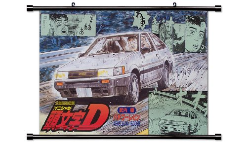 Initial D Anime Fabric Wall Scroll Poster  Inches-Init-5
