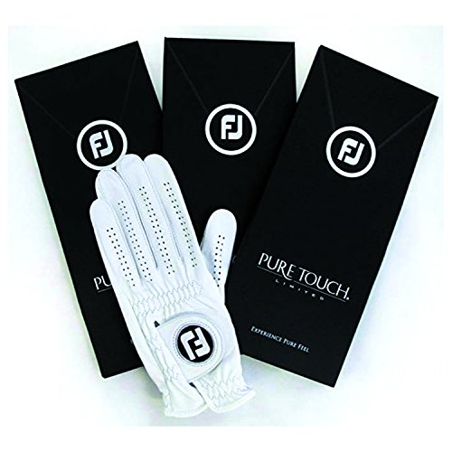 New FootJoy Pure Touch Limited Edition Men's Golf Glove - Worn on Left Hand (Medium 3 Pack-Master ()