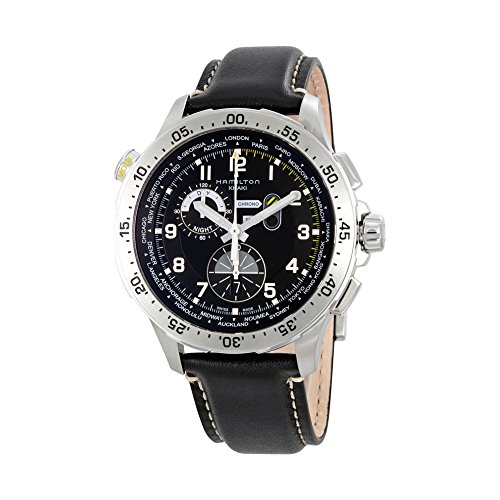 Hamilton Worldtimer Chronograph Black Dial Mens Watch H76714735
